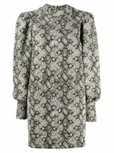 Andamane snakeskin print mini dress - Neutrals