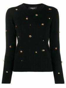Paule Ka embellished knit sweater - Black