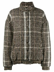 Carmen March checked oversized jacket - Neutrals