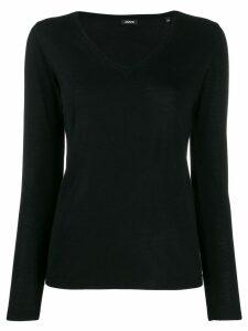 Aspesi V-neck knitted top - Black