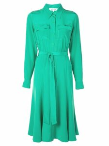 Diane von Furstenberg belted shirt dress - Green