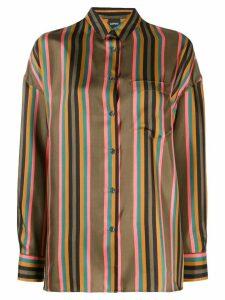 Aspesi vertical striped shirt - Green