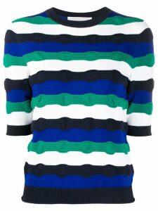Victoria Victoria Beckham patterned short sleeve top - Blue