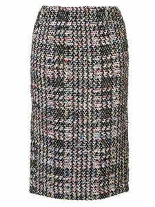 Coohem autumn check tweed skirt - Multicolour
