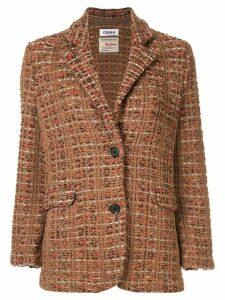 Coohem tweed blazer jacket - Brown