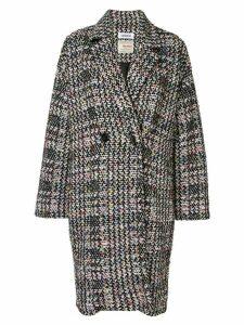 Coohem autumn check tweed coat - Black