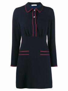 Sandro Paris two tone shirt dress - Blue