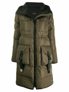 Pinko hooded padded coat - Green