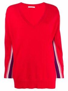Chinti & Parker v-neck oversized jumper - Red