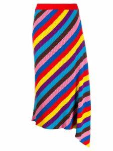 Chinti & Parker striped asymmetric skirt - Red
