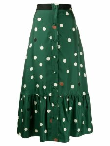 Chinti & Parker polka dot midi skirt - Green