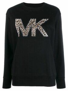 Michael Michael Kors logo studded sweater - Black