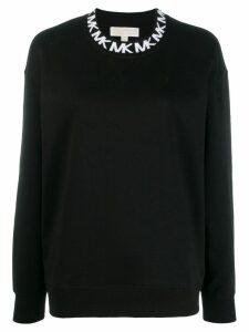 Michael Michael Kors logo embroidered sweatshirt - Black