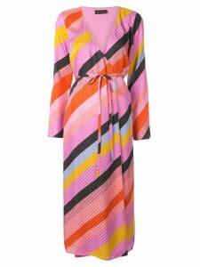 Stine Goya Paisley stripe wrap dress - PINK