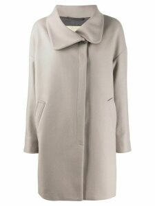 Herno button-front coat - Grey