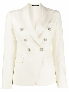 Tagliatore double-breasted blazer - White