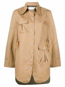 Ganni oversized single breasted jacket - Brown