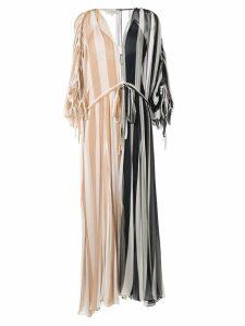 Lee Mathews Oasis striped crinkle dress - Blue