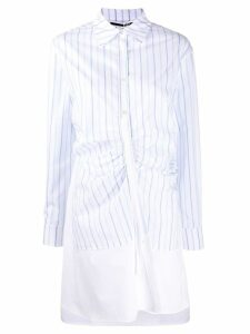 McQ Alexander McQueen gathered placket dress - White