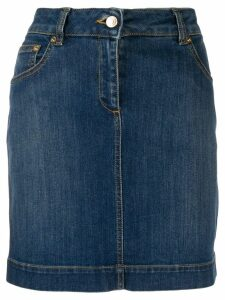 Moschino Teddy pocket denim skirt - Blue