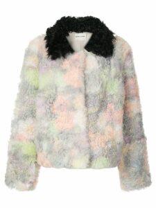 Sandy Liang Rainbow shearling coat - Multicolour