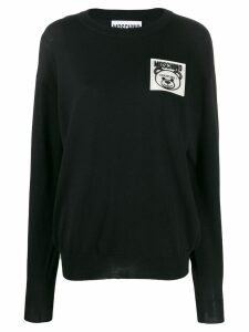 Moschino Teddy Bear patch jumper - Black