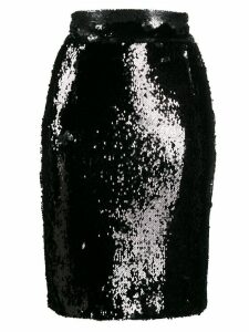 Dondup short sequined skirt - Black