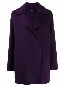 Theory boxy fit coat - Purple