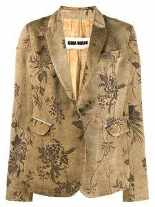 Uma Wang floral blazer - Neutrals