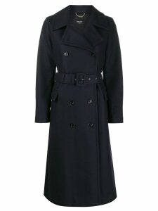 Paltò double-breasted belted coat - Blue