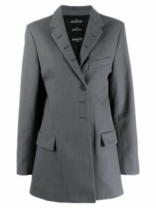 Rokh button hole tailored blazer - Grey
