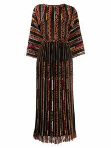 Etro panelled long dress - Black