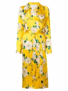 We Are Leone Tallullah floral wrap dress - Yellow