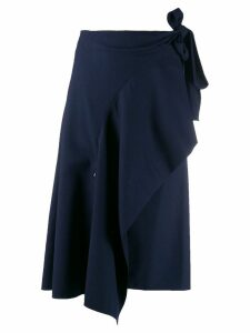 Chloé asymmetric draped skirt - Blue