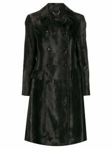 Paltò double-breasted fitted coat - Grey