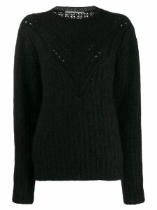 Alberta Ferretti textured-knit jumper - Black