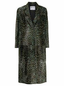 S.W.O.R.D 6.6.44 oversized leopard print coat - Grey