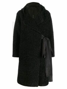 Sara Lanzi glittered coat - Black