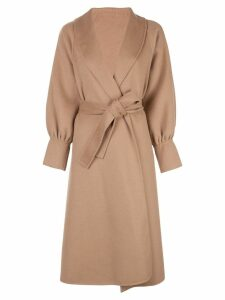 L'Autre Chose belted mid-length coat - Brown