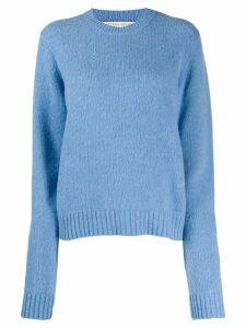 Bottega Veneta rib-trimmed jumper - Blue