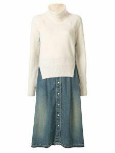 Sacai knitted jumper dress - Neutrals
