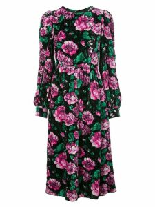 Marc Jacobs floral midi dress - Black