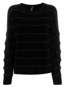 Sara Lanzi textured stripe jumper - Black