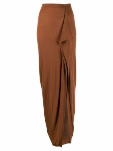 Rick Owens draped wrap skirt - Brown