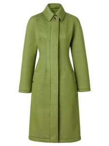Burberry Bonded Neoprene Tailored Car Coat - Green