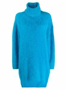 Gianluca Capannolo fuzzy sweater dress - Blue
