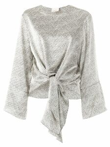 Cinq A Sept bird's eye Hayden top - Metallic