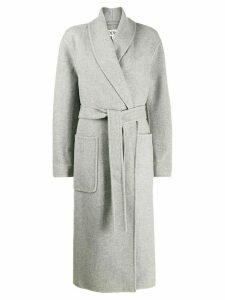 Loewe oversized belted coat - Grey