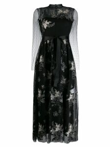 Red Valentino floral embroidered tulle dress - Black