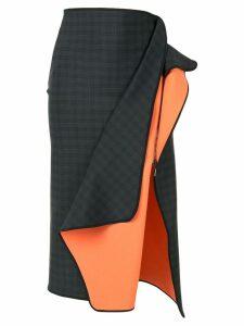 Maticevski checked ruffle detail skirt - Black